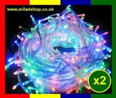 2 x Eid Milad Light (100 led Light indoor wall or Window Decoration) Islamic NEW